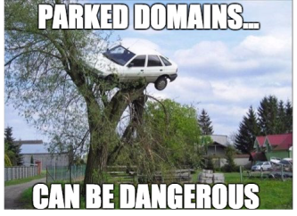 Parked domains are dangerous